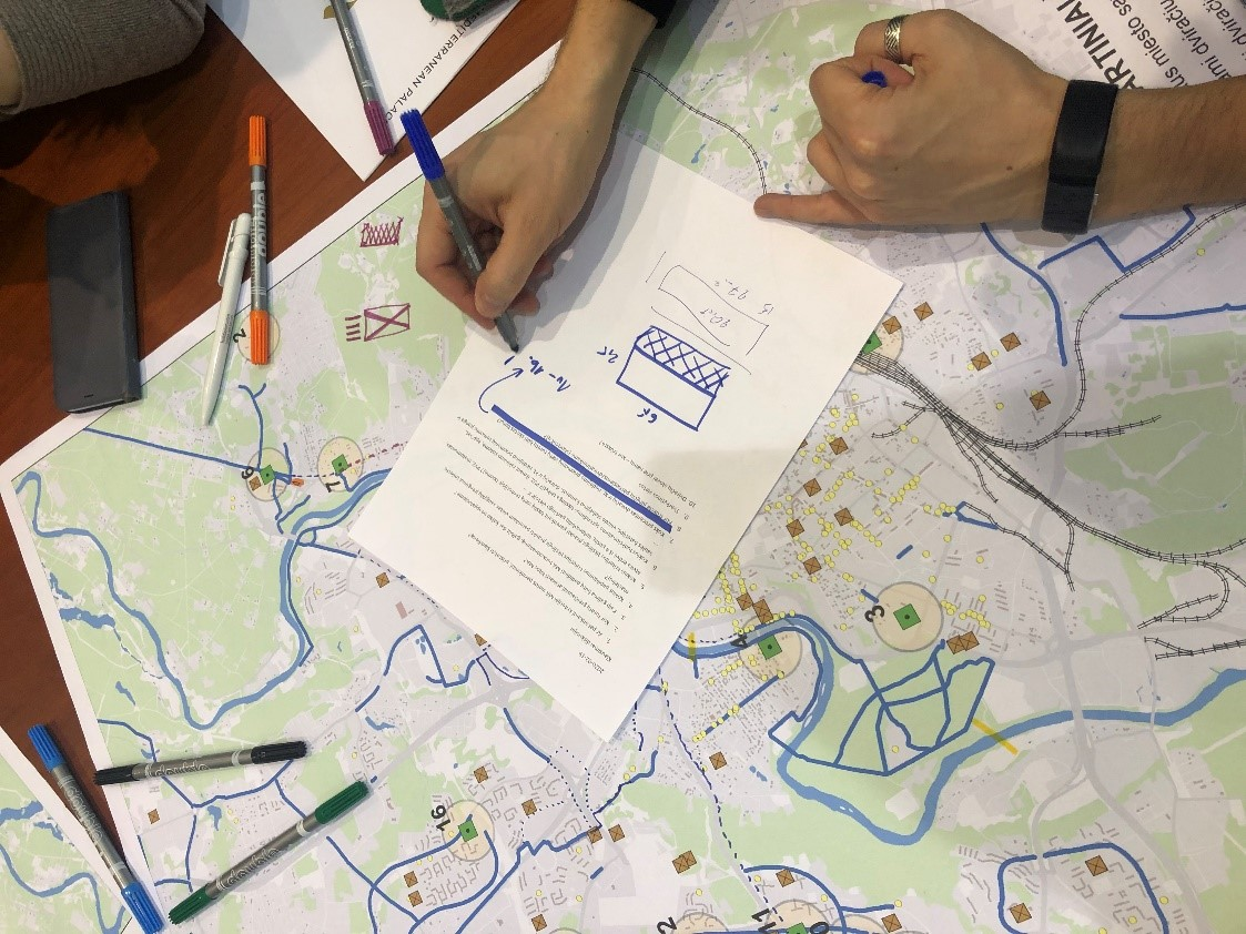 Person mapping the urban mobility plan