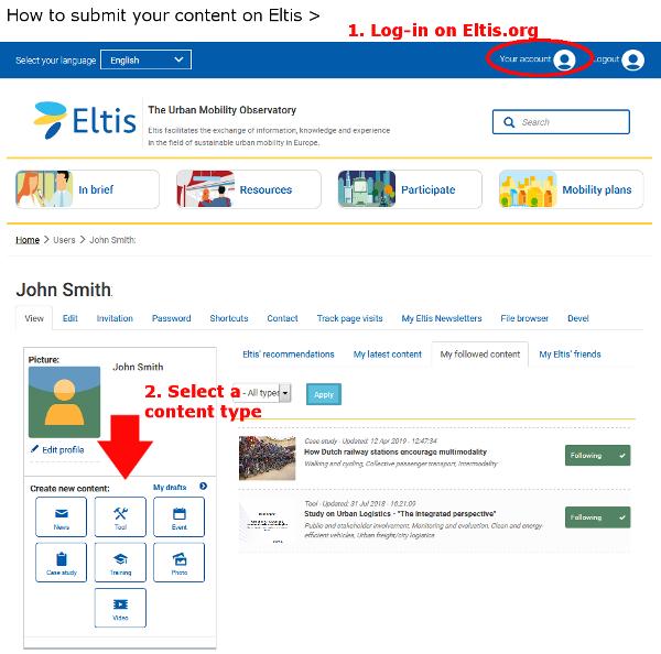 Eltis create content screen shot
