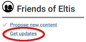 Get updates screen shot