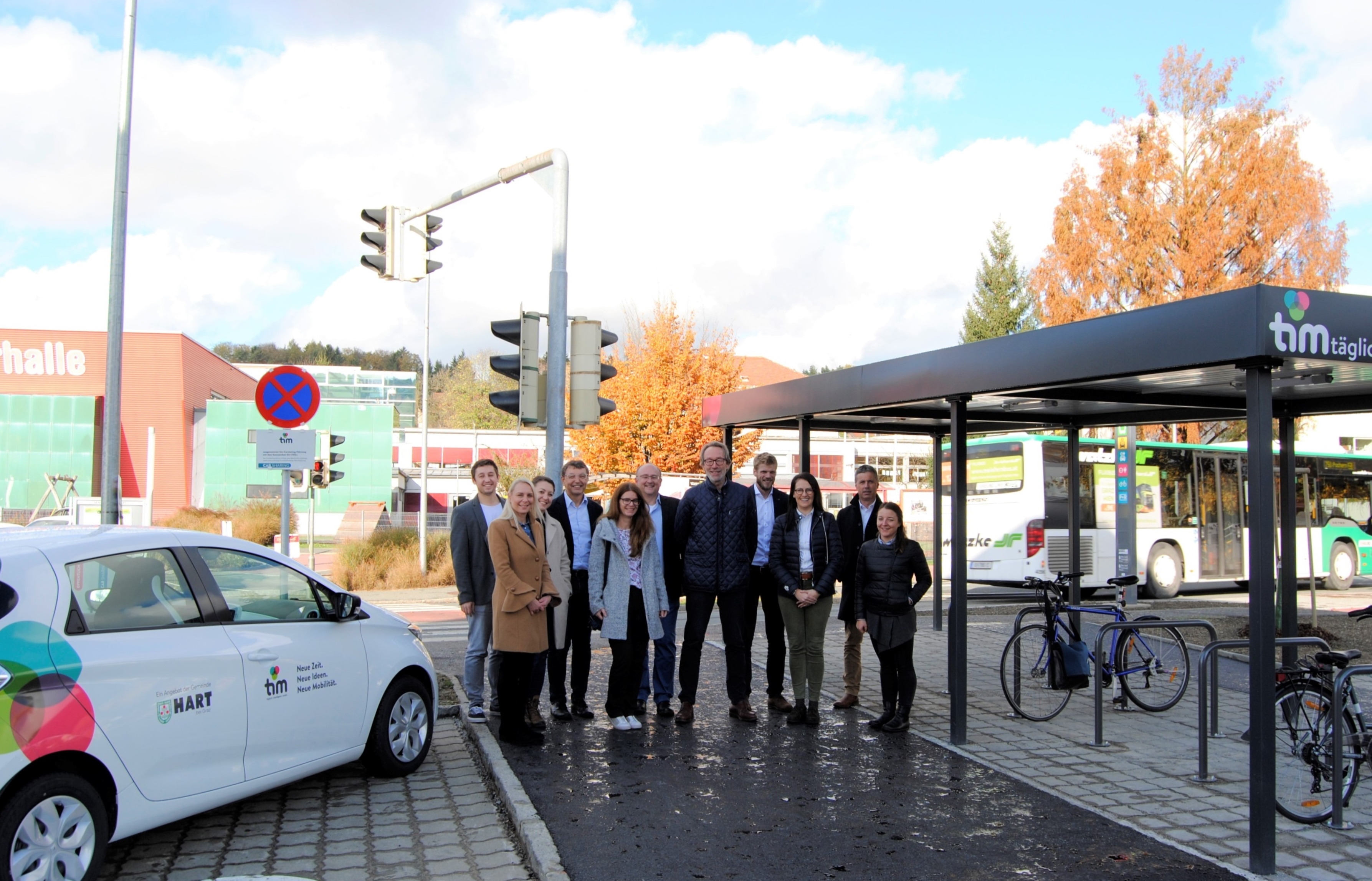 Opening of the first Regiotim in Hart bei Graz, Austria.