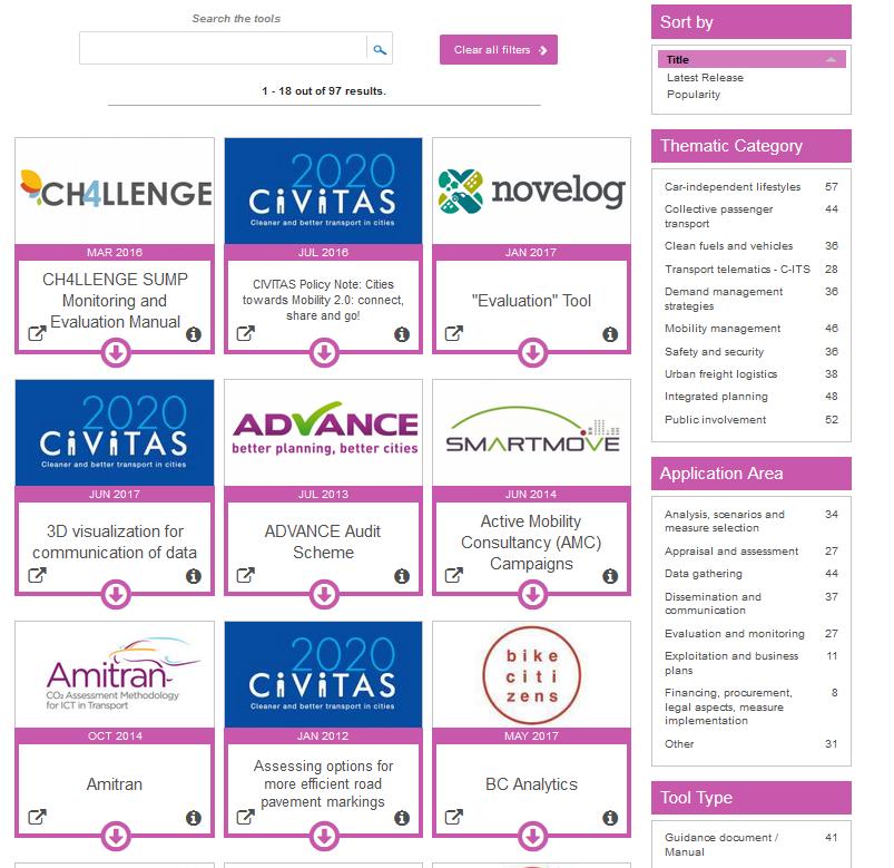 New CIVITAS Tool Inventory online   Eltis