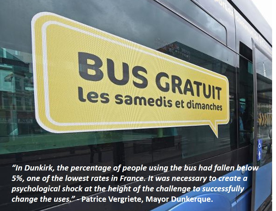 free public transport Dunkirk