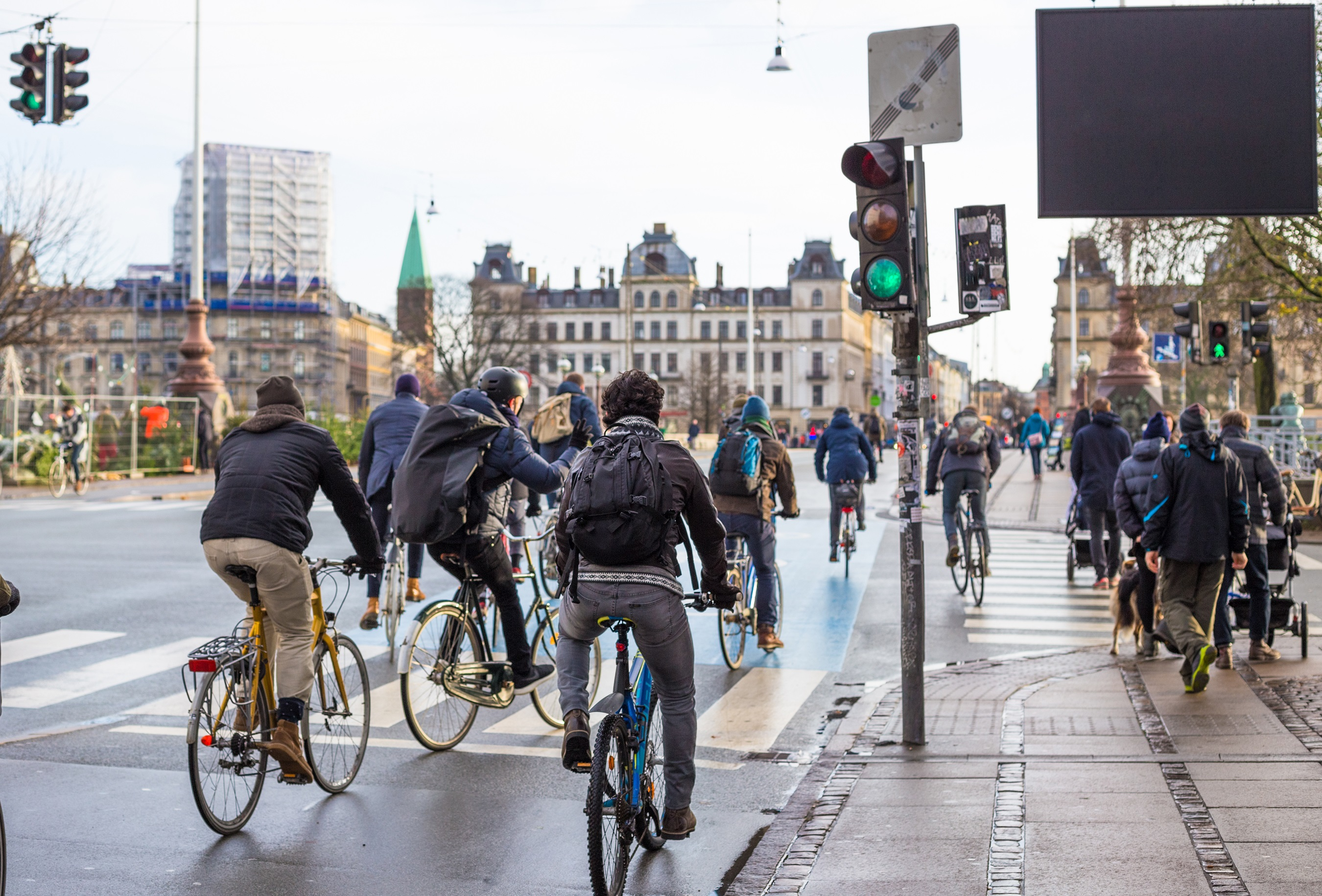 cyclists in city (Kopenhagen)