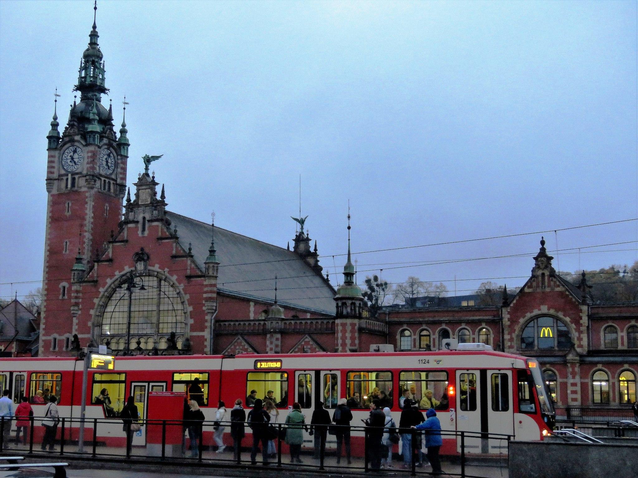 Gdansk Tram and Railroad Station
