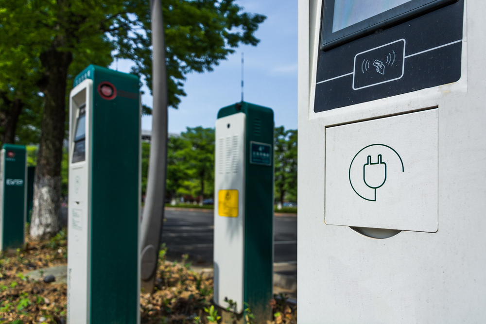 Image of electric vehicle charging station