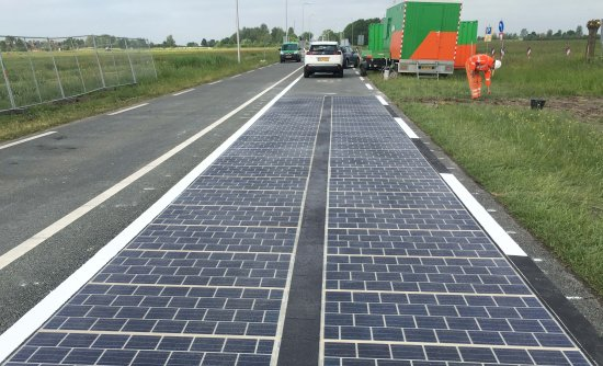 photovoltaic road surface on the provincial road N401, The Netherlands