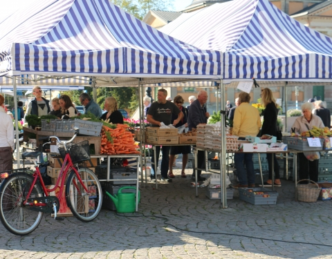 Street market at the car-free day event