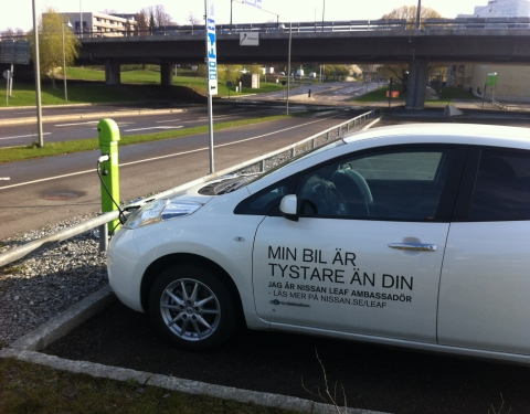 Stockholm - electric car charging point