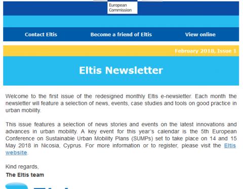 Eltis newsletter - February 2018