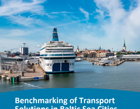 The cover image of the abovementioned report highlighting port area of Tallinn