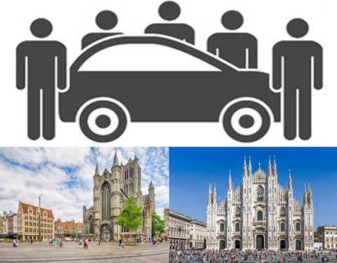 Ghent and Milan winners of a car sharing award