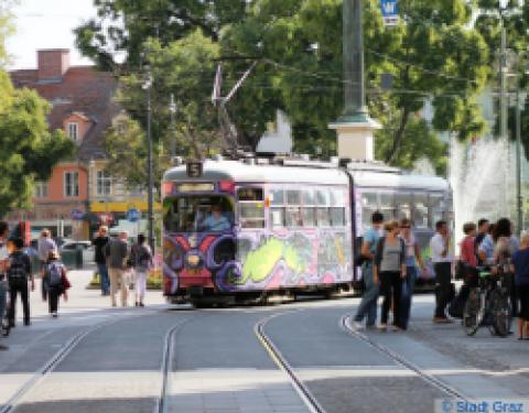 Tram in Graz, Austria