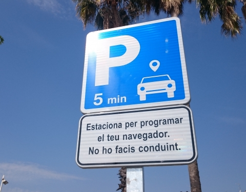 GPS Usage - Terrassa Sign