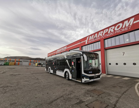 The latest test of the electric bus MAN Lion's City E in Maribor