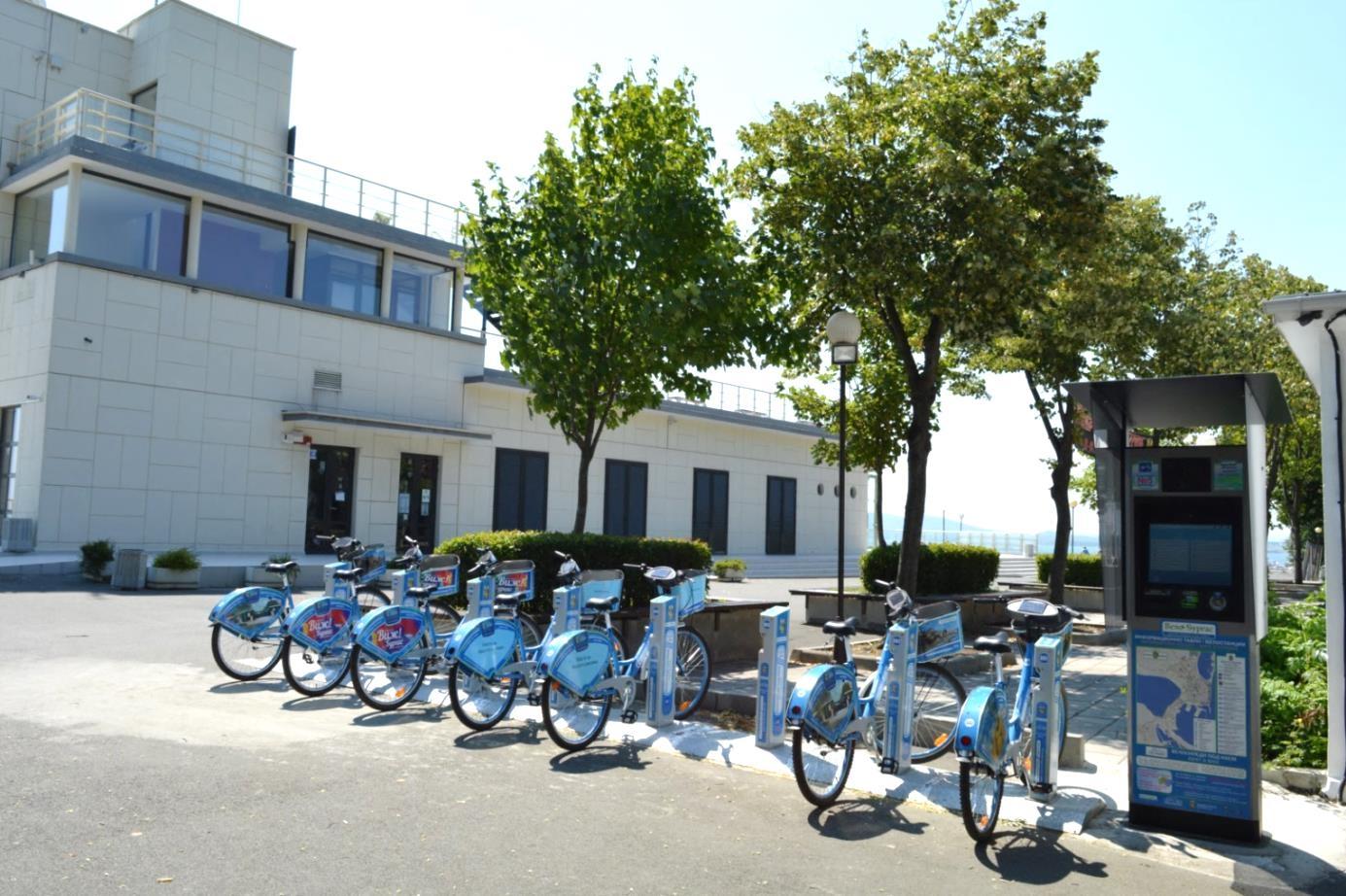 Bike sharing station in Burgas