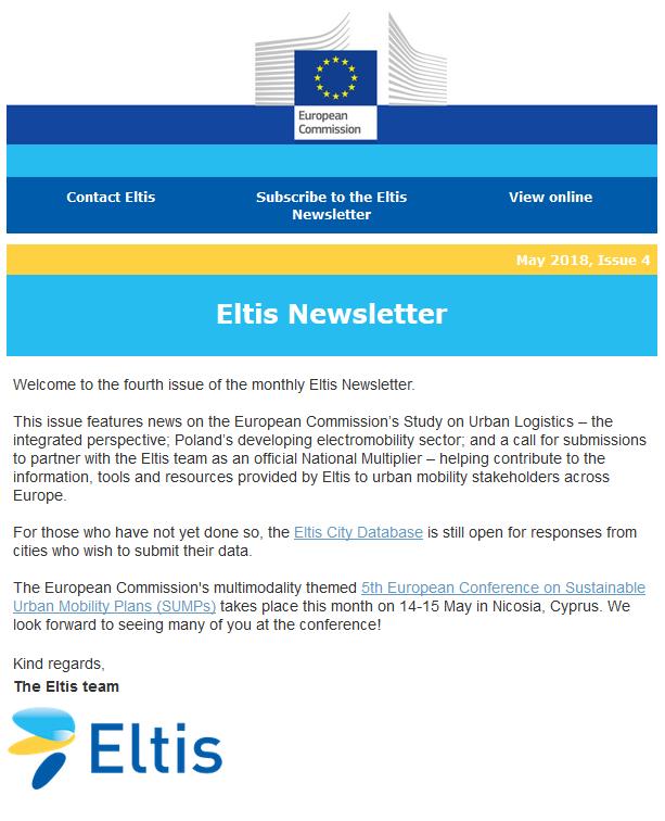Eltis newsletter - May 2018