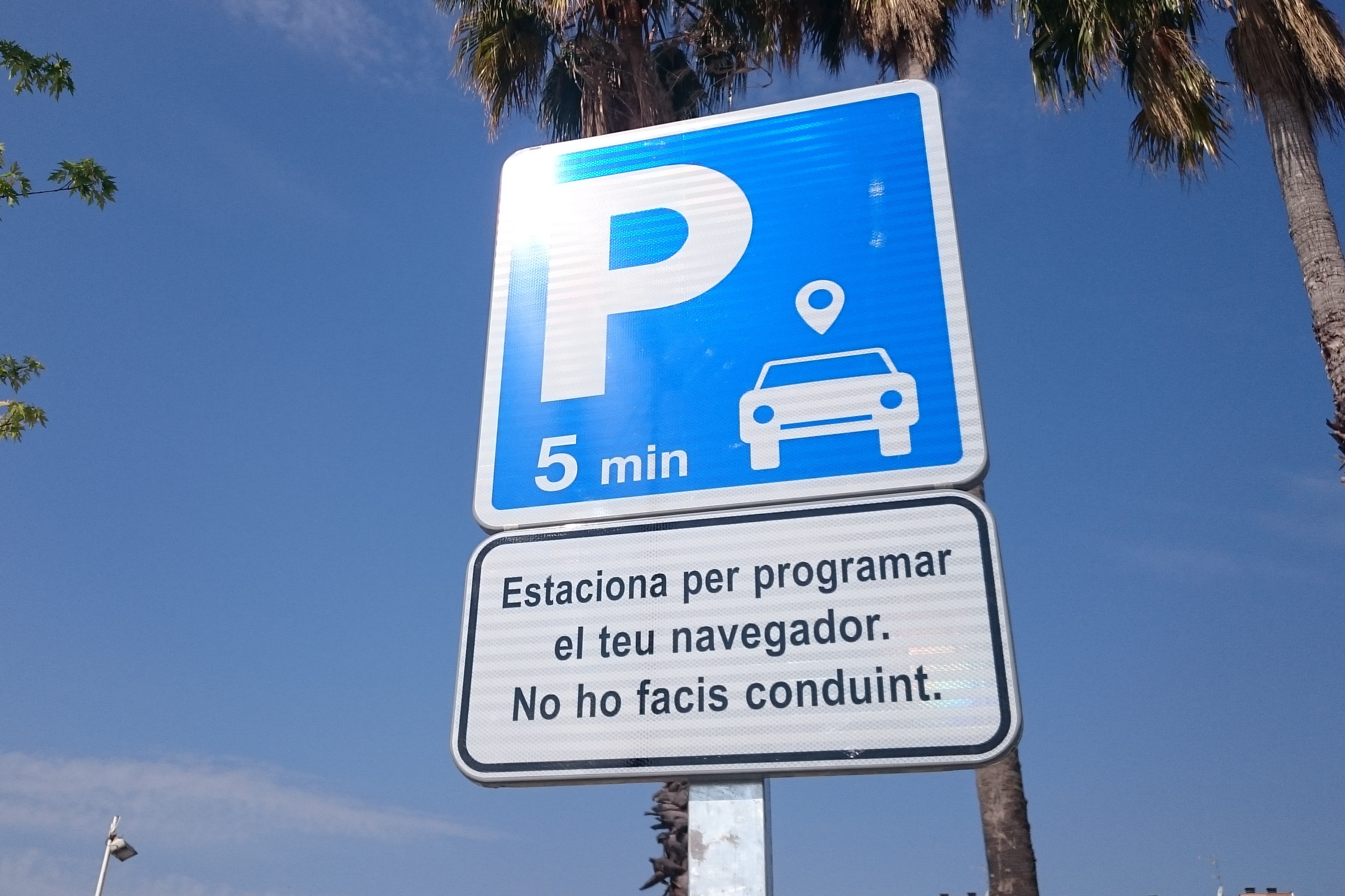 GPS Usage - Terrassa Sign
