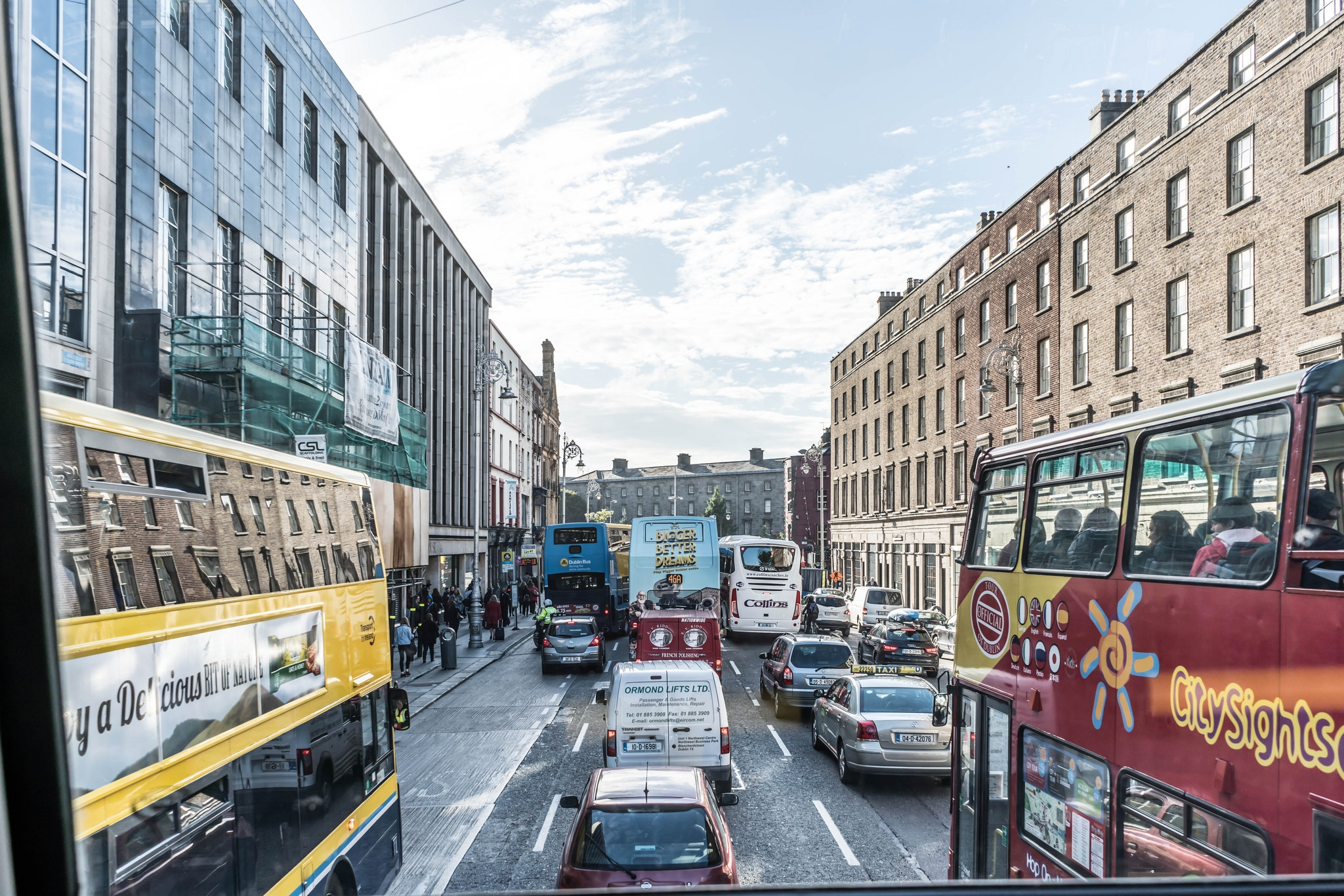Dublin bus view