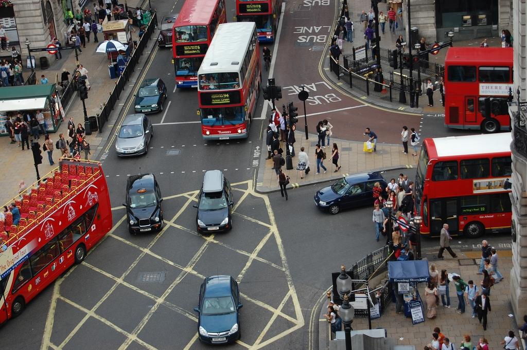 Traffic Junction in London