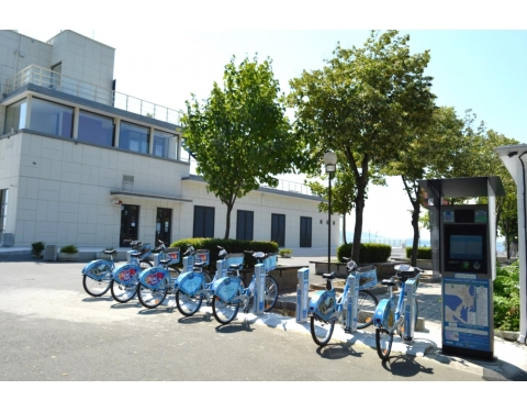 Bike sharing station in Burgas