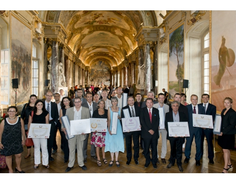 """Trophées Ecomobilité Tisséo"" ceremony organised during the 2014 European Mobility Week in the City Hall of Toulouse"