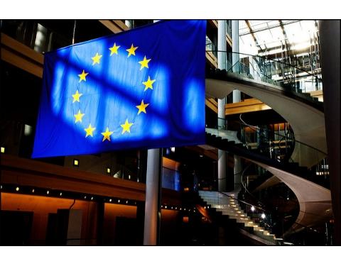 EU flag European Parliament