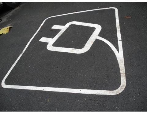 Aarhus - electric car charging space