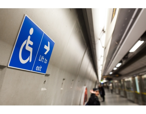 London Blackfriars Station - Disabled Access Sign