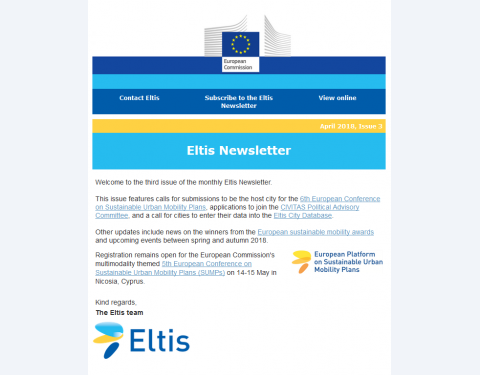 Eltis newsletter - April 2018
