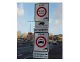 Signs marking the Low Emission Zone (milieuzone)