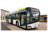 Electric bus line in the city of Bergamo, Italy