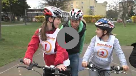 Embedded thumbnail for Bicycle training for children in real traffic condition