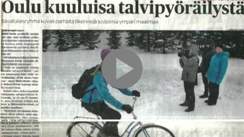 Embedded thumbnail for Promotion of winter cycling in Oulu, Finland