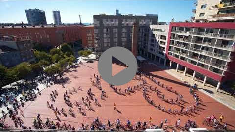 Embedded thumbnail for Huge human-bicycle circuit in Terrassa, Spain