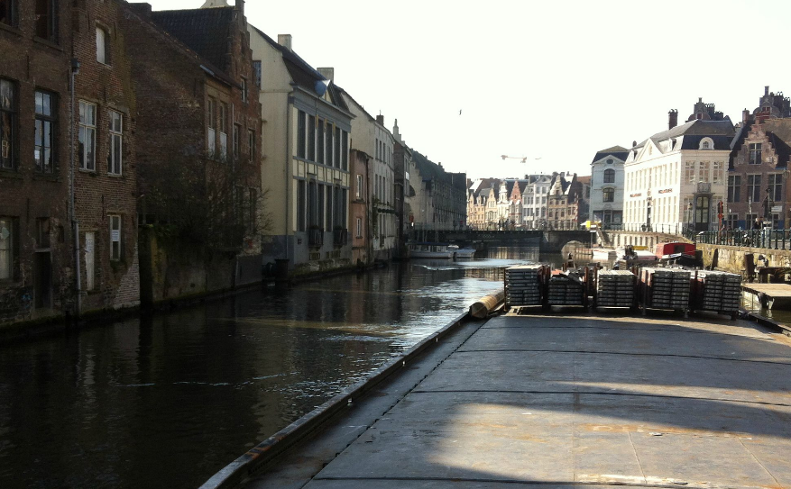 Ghent waterways urban mobility transport logistics